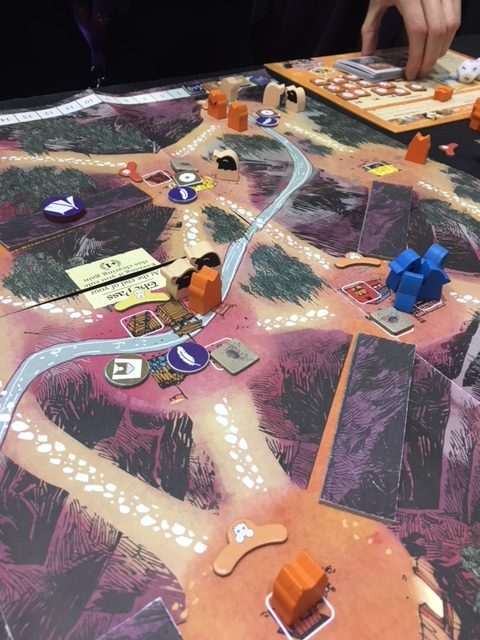Root: The Underworld Expansion - game in session on the mountain map