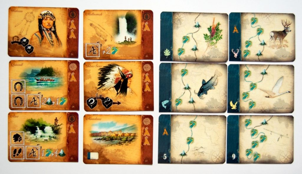 Figure 6: Tribal and journey cards (Discoveries: The Journals of Lewis & Clark)
