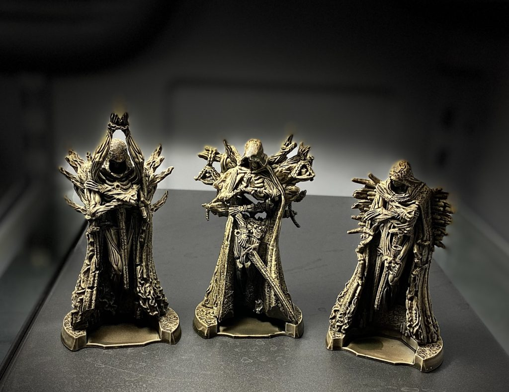 Tainted Grail: The Fall of Avalon, the three Menhir miniatures
